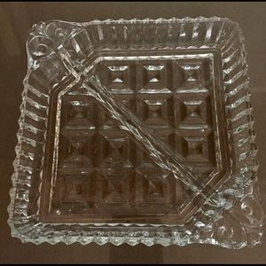 Other - CUT GLASS DIVIDED TRAY